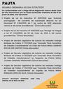Pauta da Reunião Ordinária do dia 01/06/2020