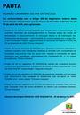 Pauta da Reunião Ordinária do dia 05/04/2021