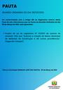 Pauta da Reunião Ordinária do dia 08/03/2021