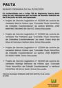 Pauta da Reunião Ordinária do dia 15/06/2020