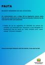 Pauta da Reunião Ordinária do dia 12/04/2021.