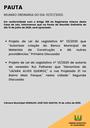 Pauta da Reunião Ordinária do dia 13/07/2020