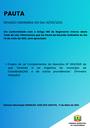 Pauta da Reunião Ordinária do dia 14/05/2021