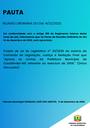 Pauta da Reunião Ordinária do dia 14/12/2020.
