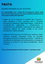 Pauta da Reunião Ordinária do dia 15/03/2021