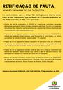 Pauta da Reunião Ordinária do dia 20/09/2021