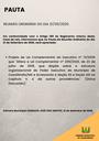 Pauta da Reunião Ordinária do dia 21/09/2020
