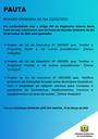 Pauta da Reunião Ordinária do dia 22/03/2021