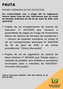 Pauta da Reunião Ordinária do dia 25/05/2020