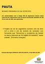 Pauta da Reunião Ordinária do dia 31/05/2021
