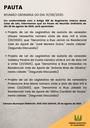 Pauta da Reunião Ordinária do dia 31/08/2020
