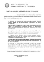 Pauta da Sessão Ordinária - 27/02/2020