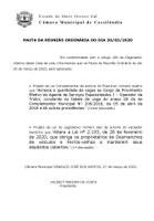 Pauta da Sessão Ordinária - 30/03/2020