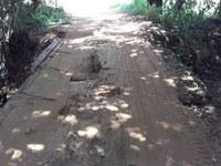 Presidente da Câmara solicita manutenção da Ponte do Córrego da Anta.