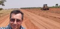 Presidente da Câmara visita estradas rurais.