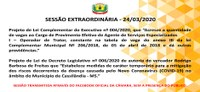 Sessão Extraordinária dia 24/03/2020